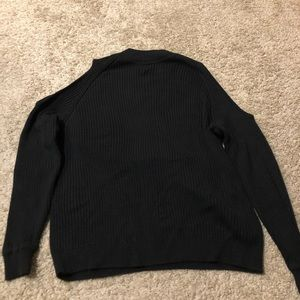 Black Turtle Neck Sweater That's Shoulders Cut Out